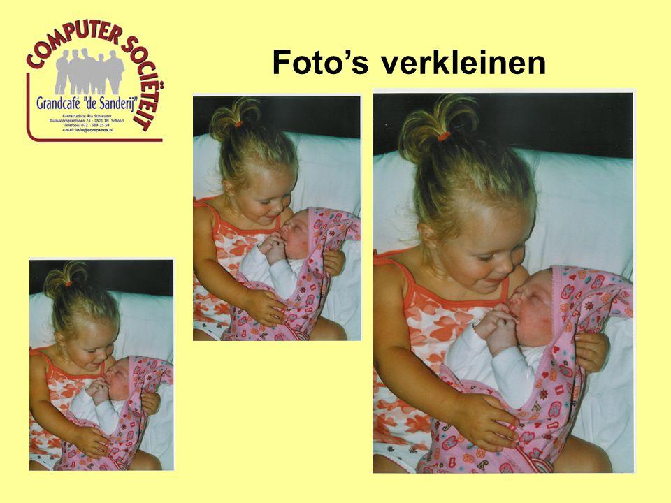 Foto's verkleinen