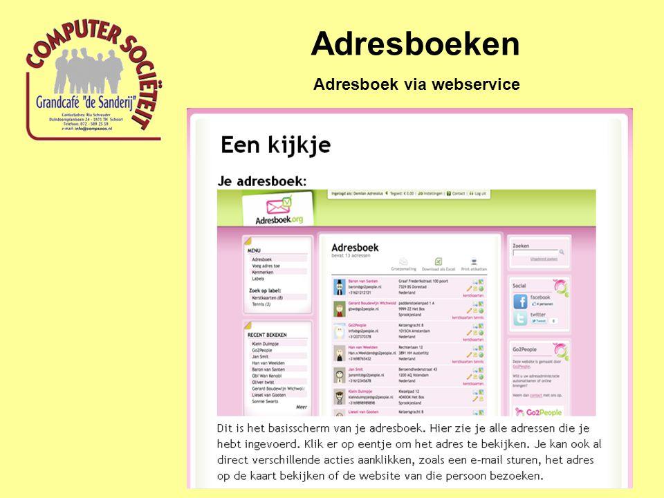 Adresboeken Adresboek via webservice