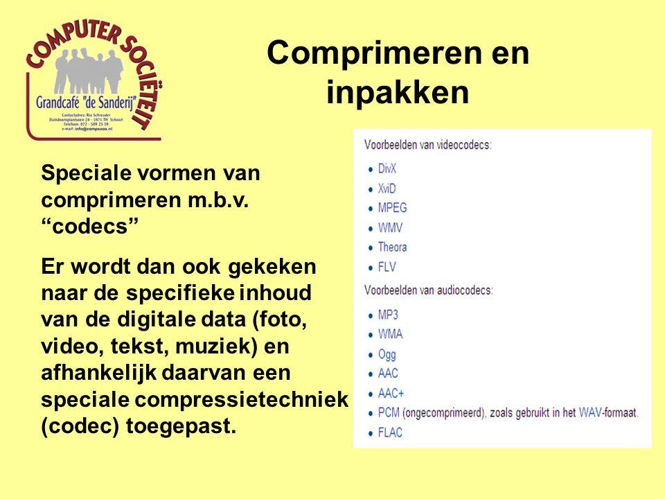 Comprimeren en inpakken Speciale vormen van comprimeren m.b.v.