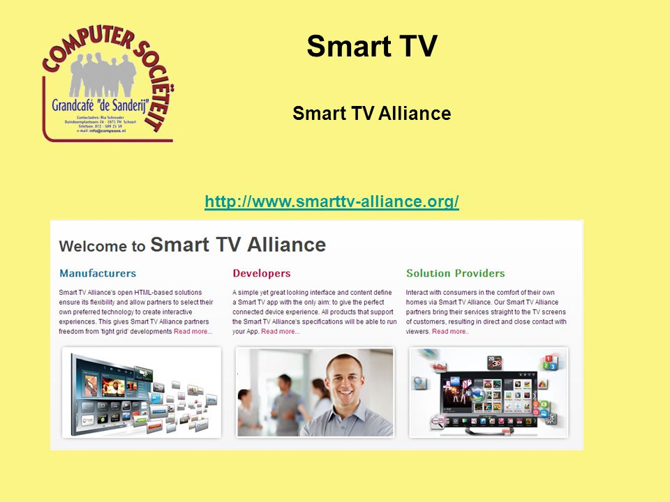 Smart TV Alliance Smart TV http://www.smarttv-alliance.org/