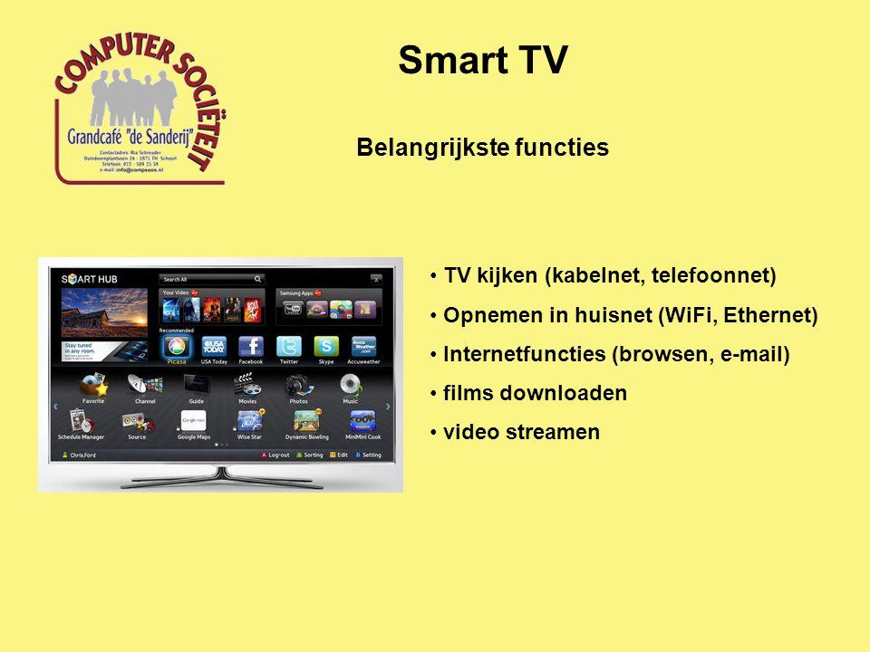 Communicatie configuratie Smart TV Modem Router WiFi-station provider TV-signalen WiFi/Ethernet huisnetwerk telefoonnet Smart TV
