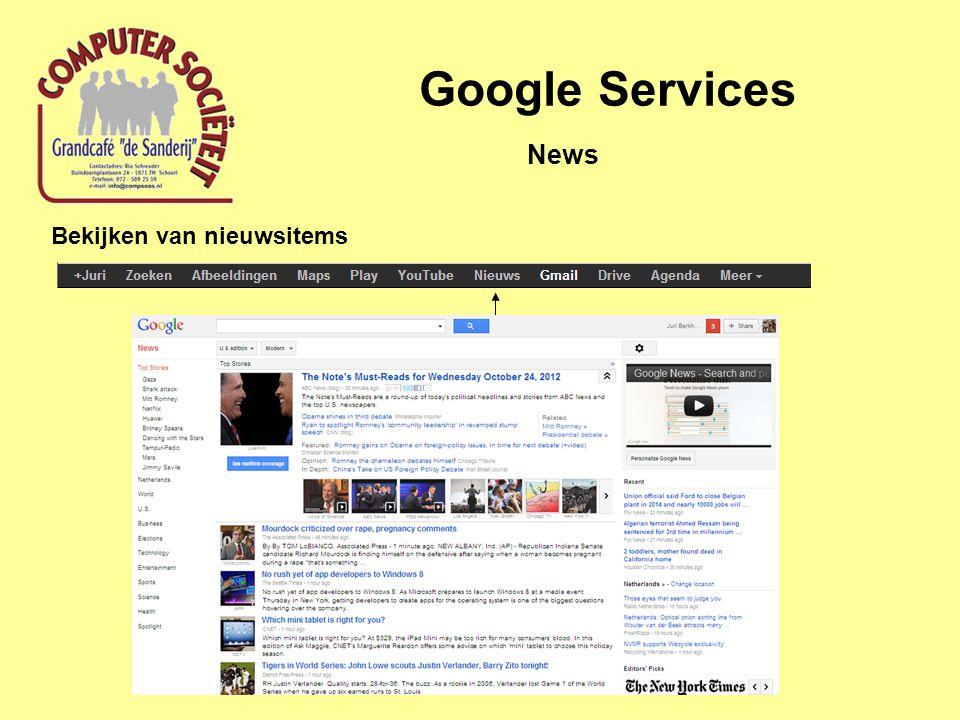 Google Services Bekijken van nieuwsitems News