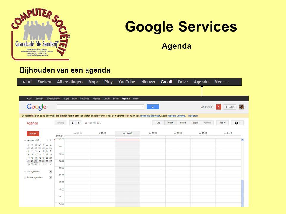 Google Services Bijhouden van een agenda Agenda