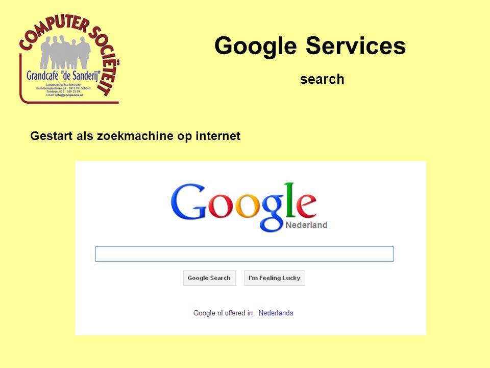 Gestart als zoekmachine op internet search