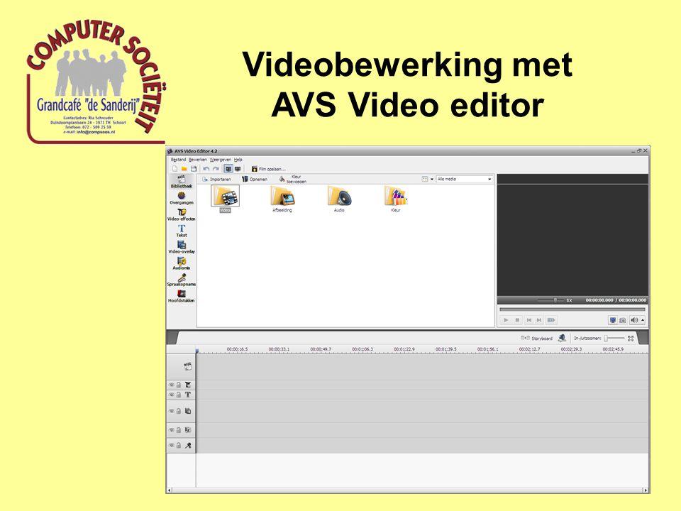 Videobewerking met AVID