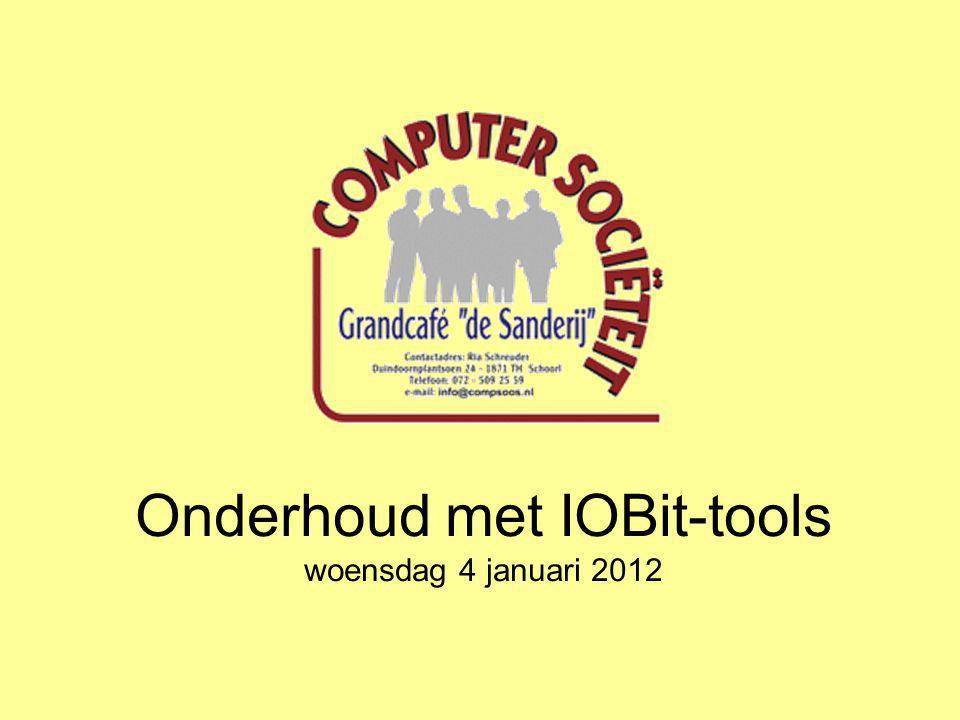 Onderhoud met IOBit-tools woensdag 4 januari 2012