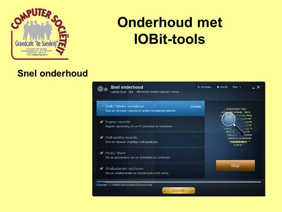 Onderhoud met IOBit-tools Snel onderhoud