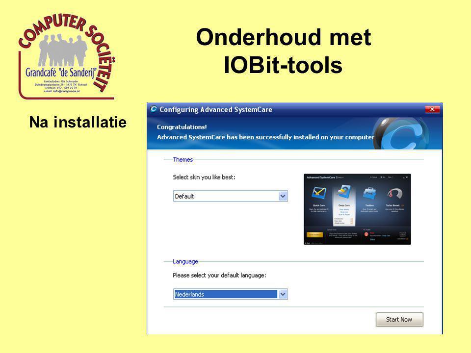 Onderhoud met IOBit-tools Na installatie