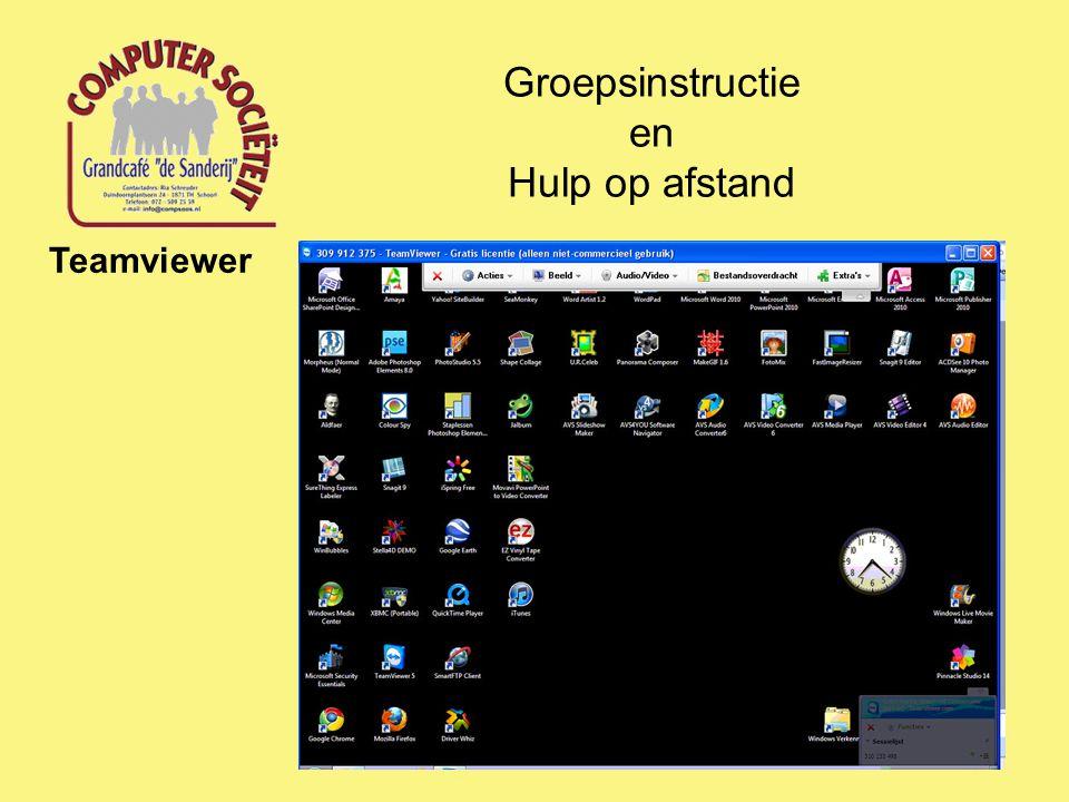 Groepsinstructie en Hulp op afstand Teamviewer