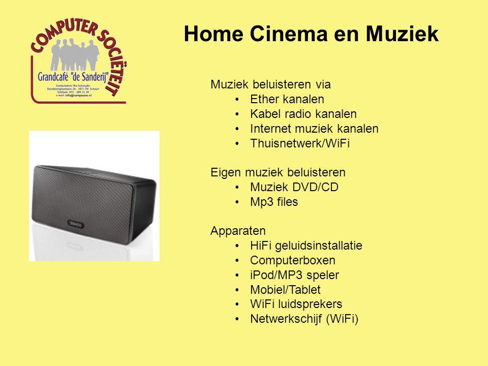 Home Cinema en Muziek Video/Muziek Streaming over thuisnetwerk Computer met video en muziekfiles Software Media Center/Player Windows Media Center VLC