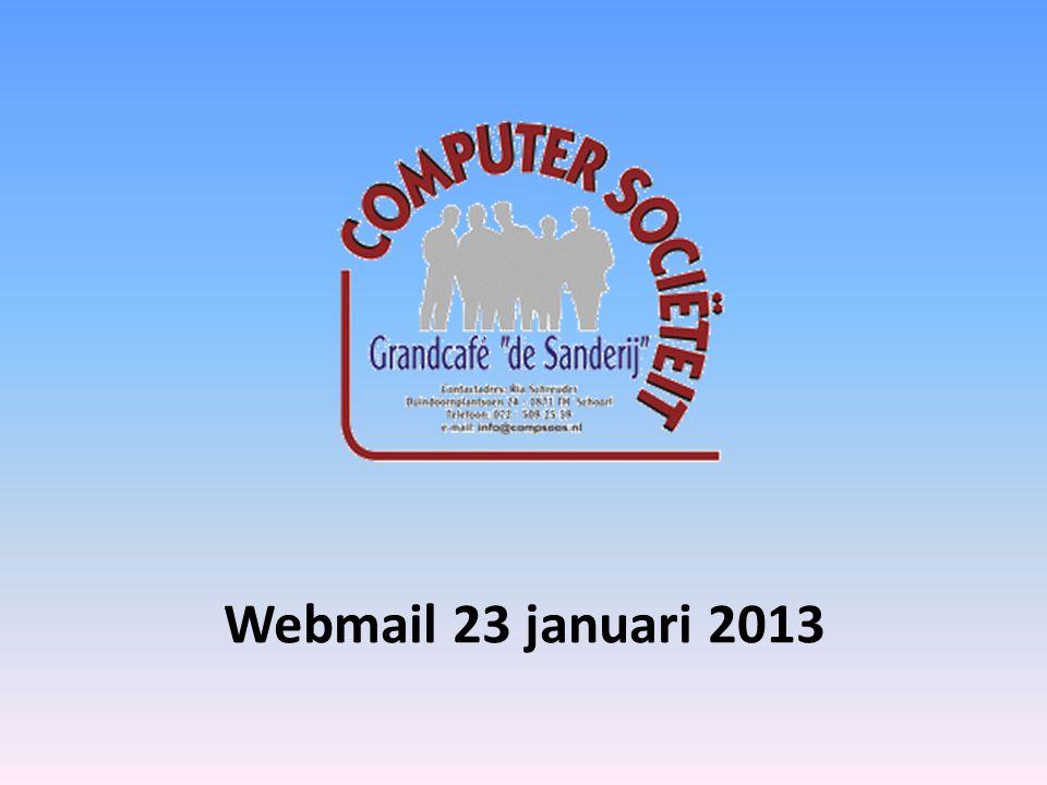 Webmail 23 januari 2013