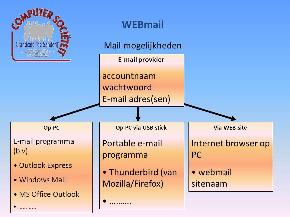 WEBmail WEBmail voorbeeld ziggo Accountnaam: = emailadres wachtwoord: XXXXXXXX Via WEB-site www.email.ziggo.nl