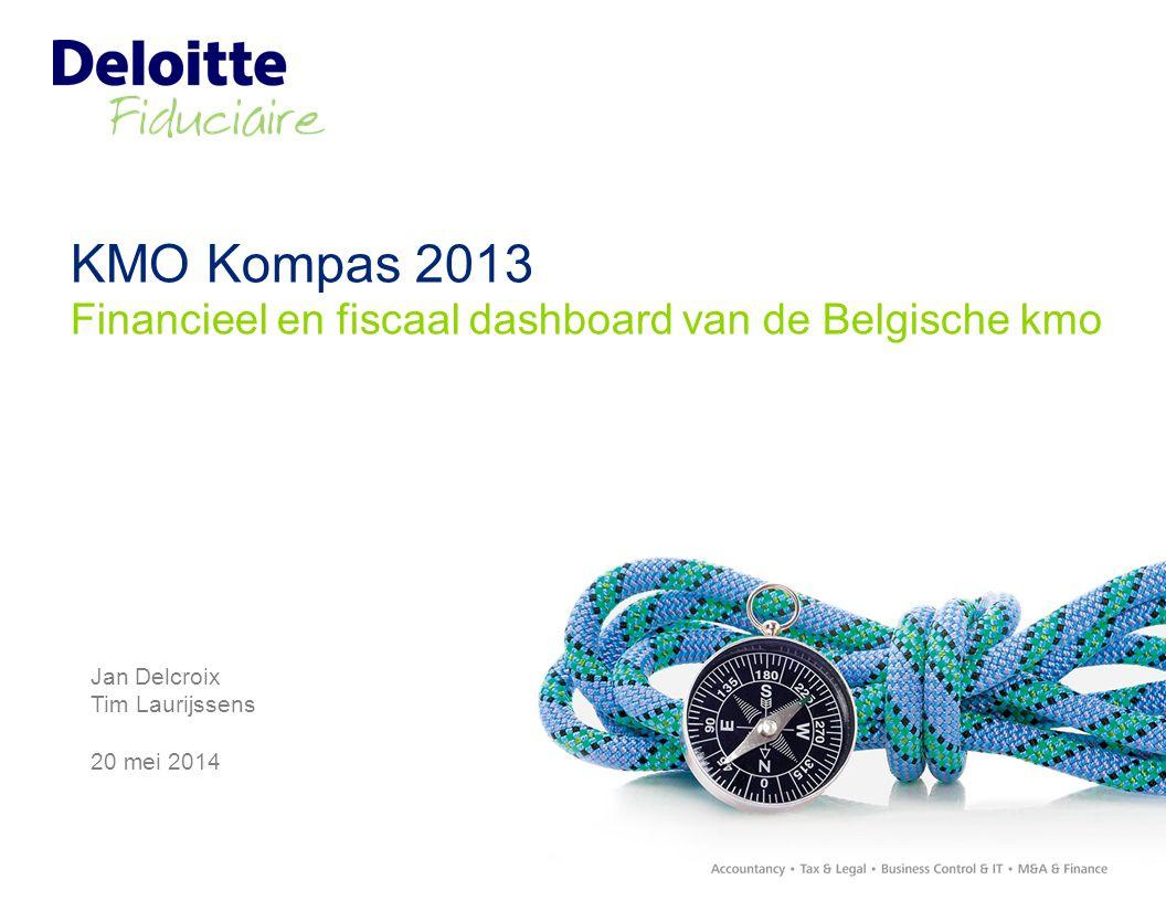 KMO Kompas 2013 Financieel en fiscaal dashboard van de Belgische kmo Jan Delcroix Tim Laurijssens 20 mei 2014