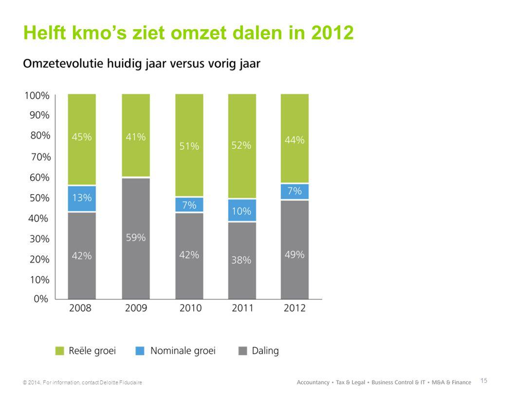 Helft kmo's ziet omzet dalen in 2012 15