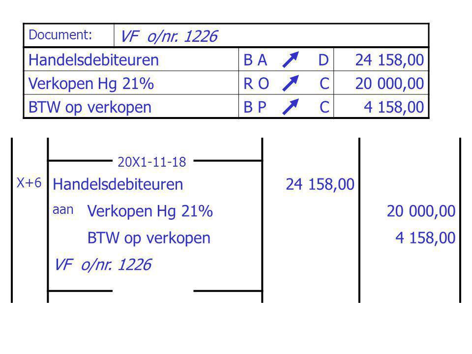 Document: Wisselbrief nr.W+1, voor VF o/nr.
