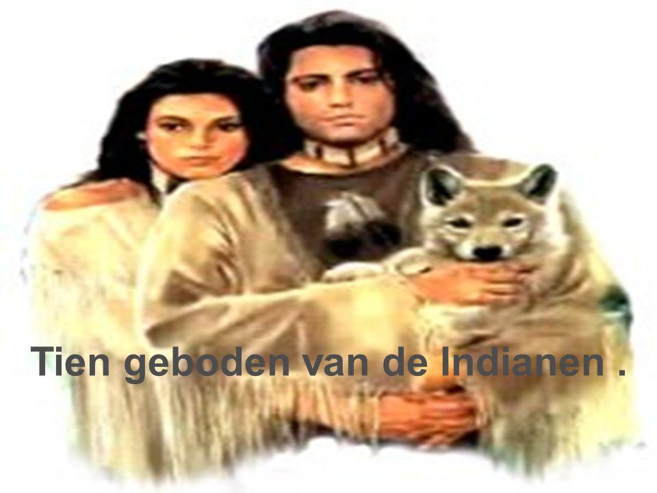 Tien geboden van de Indianen.