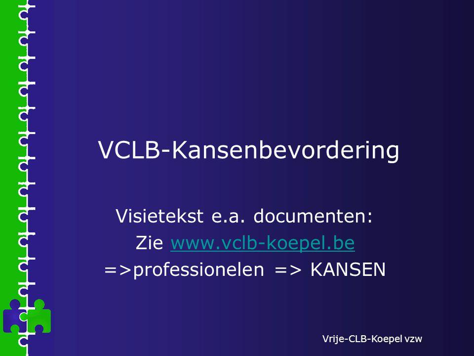 Vrije-CLB-Koepel vzw VCLB-Kansenbevordering Visietekst e.a.