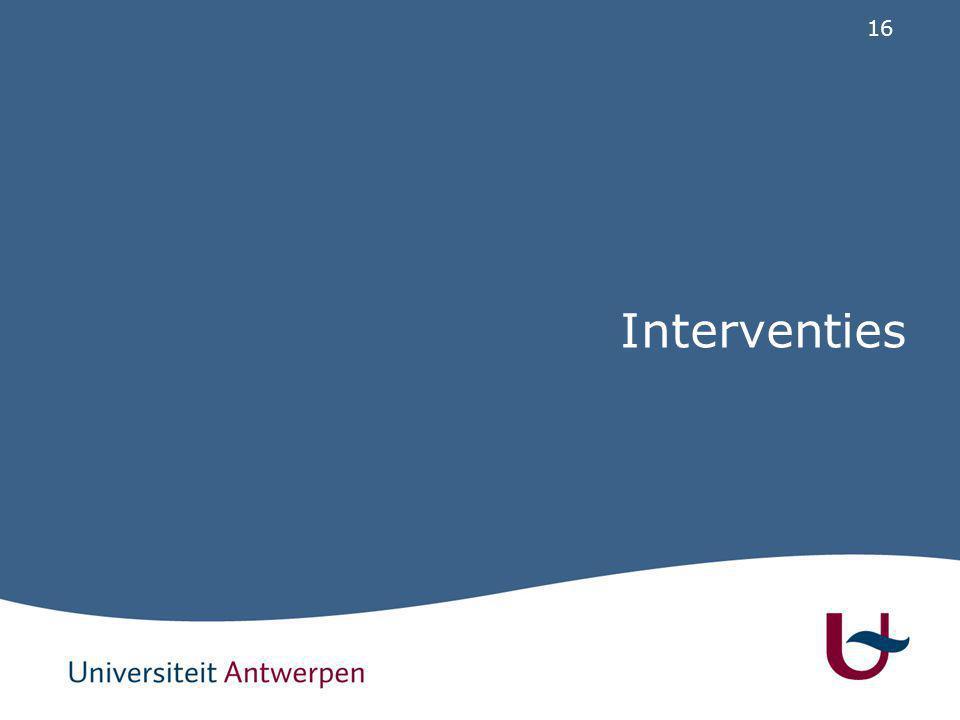 16 Interventies