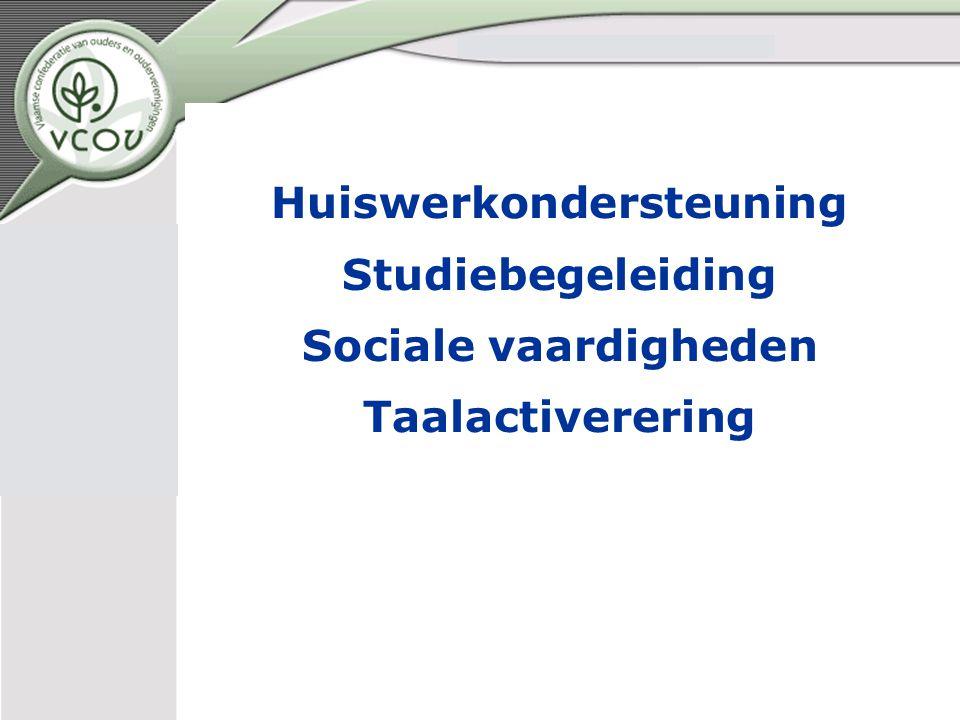 Huiswerkondersteuning Studiebegeleiding Sociale vaardigheden Taalactiverering