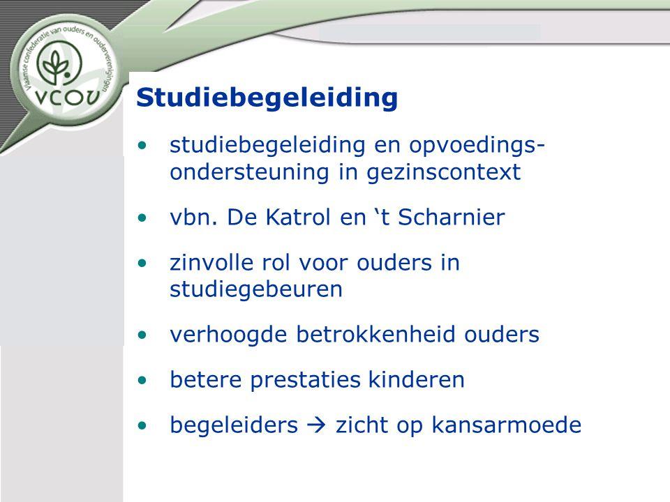 Studiebegeleiding studiebegeleiding en opvoedings- ondersteuning in gezinscontext vbn.