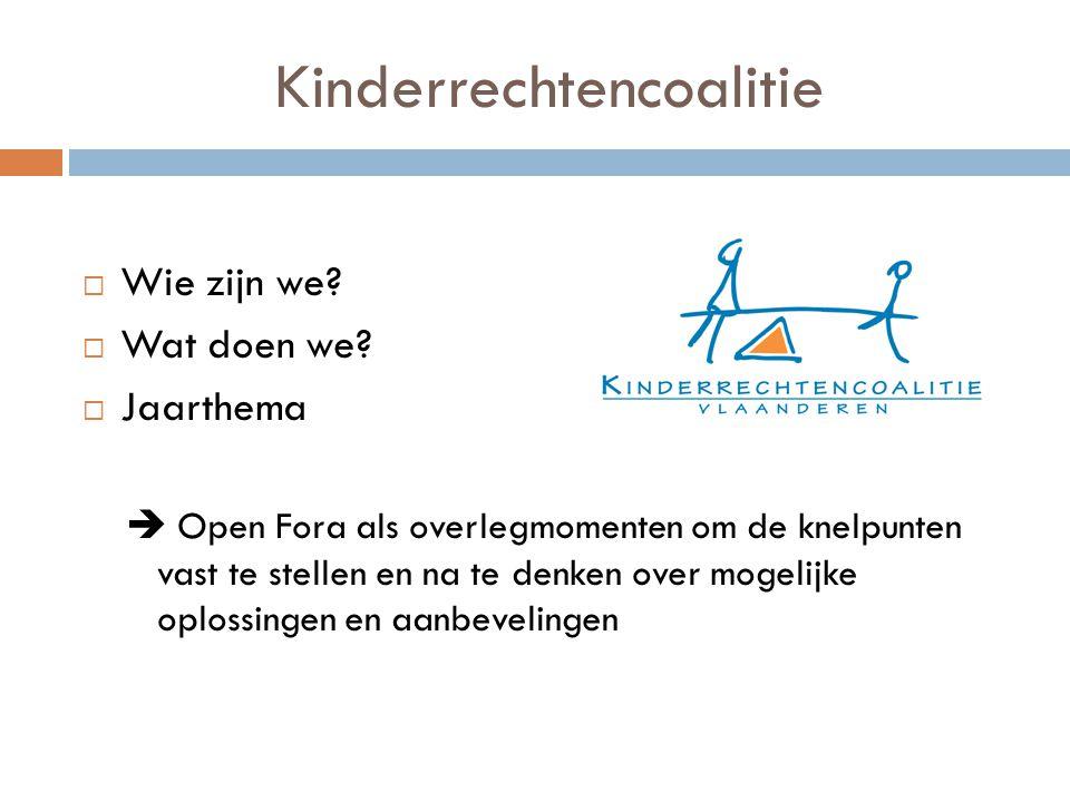 Kinderrechtencoalitie  Wie zijn we.  Wat doen we.