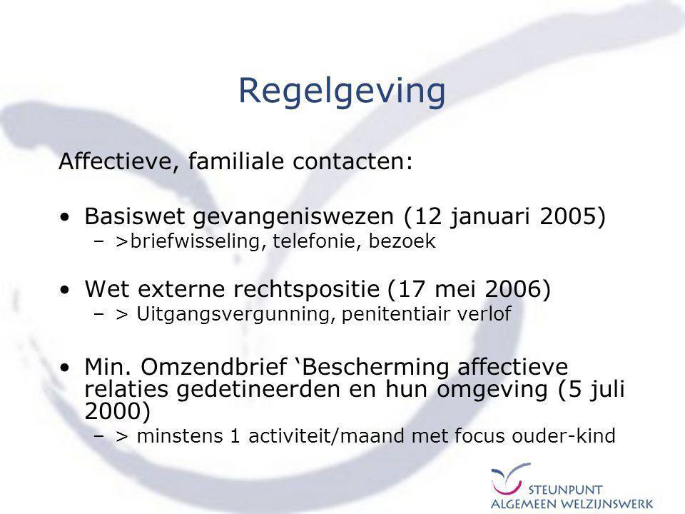 Regelgeving Moeder en kind in detentie: Algemeen Reglement Strafinrichtingen (21 mei 1965), art.