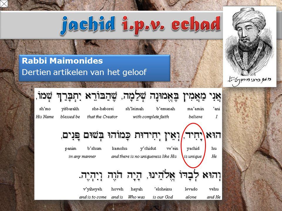 Rabbi Maimonides Dertien artikelen van het geloof Rabbi Maimonides Dertien artikelen van het geloof