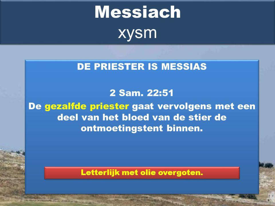 DE PRIESTER IS MESSIAS 2 Sam.