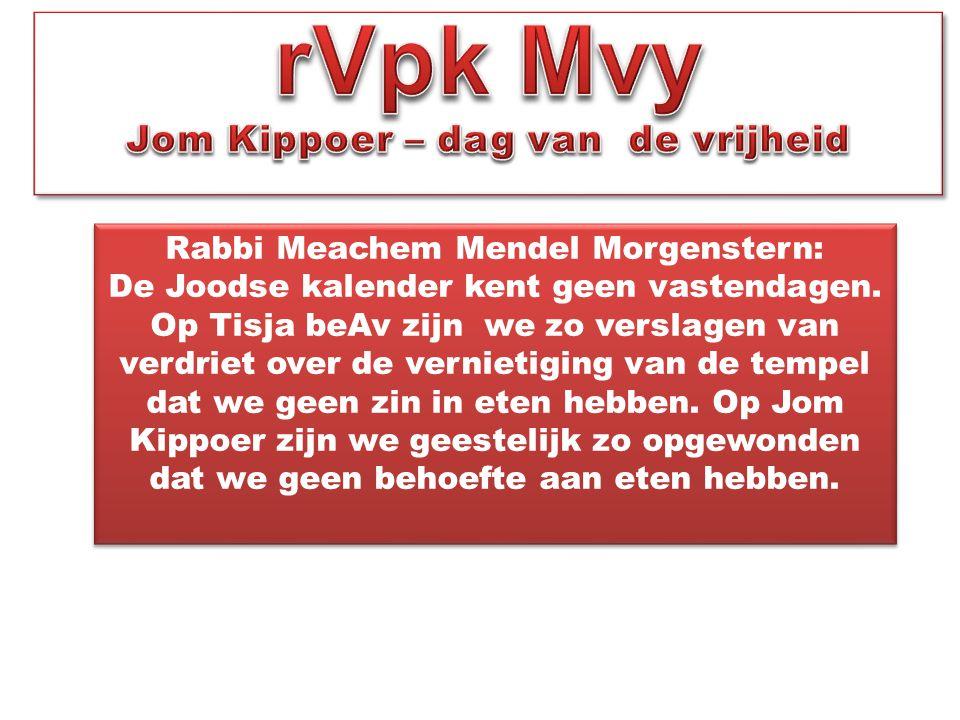 Rabbi Meachem Mendel Morgenstern: De Joodse kalender kent geen vastendagen. Op Tisja beAv zijn we zo verslagen van verdriet over de vernietiging van d