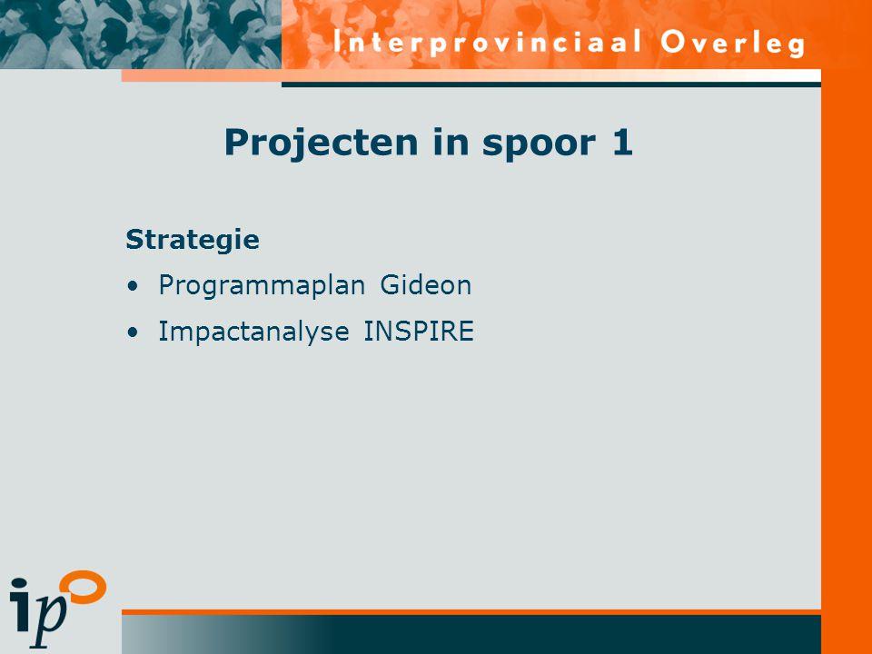 Projecten in spoor 1 Strategie Programmaplan Gideon Impactanalyse INSPIRE