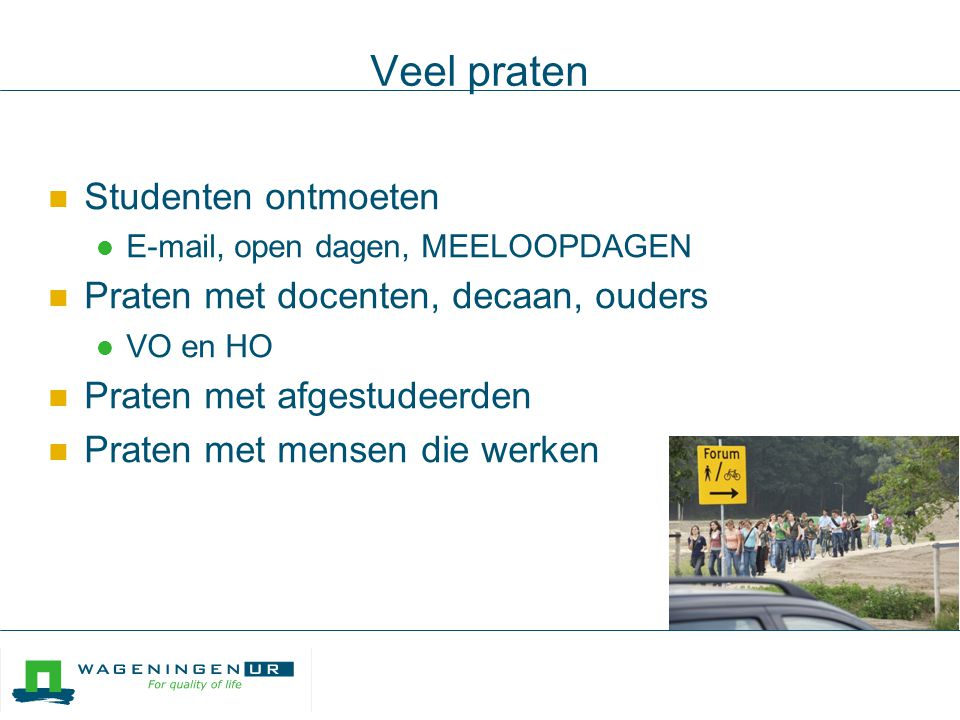 Soms duurt het even...maar het komt (bijna altijd) goed tien tips ouders@wur.nl nieuwsbrief.