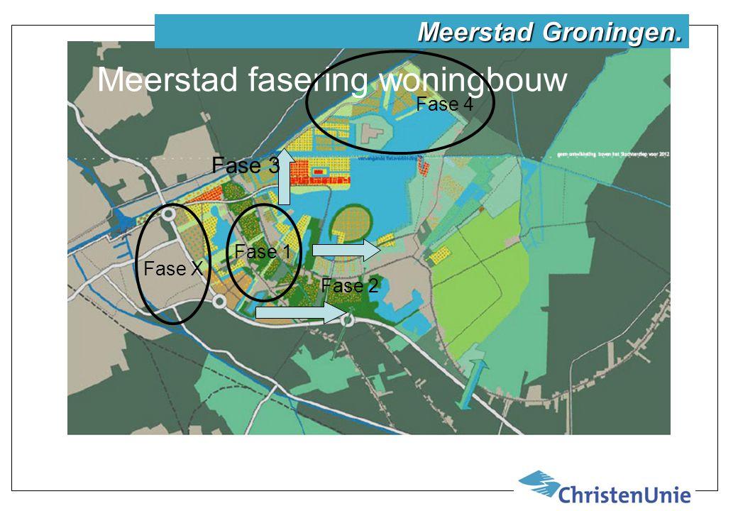 Meerstad fasering woningbouw Fase 1 Fase 2 Fase 3 Fase 4 Fase X Meerstad Groningen.