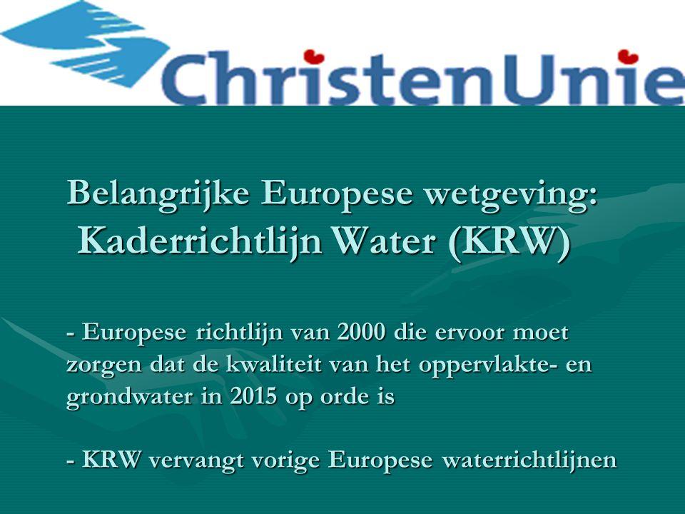 Communicatie Provincie – Wetterskip niet altijd optimaal (vb.
