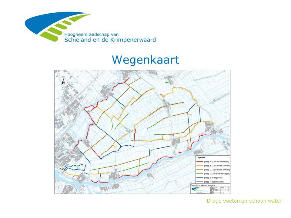Droge voeten en schoon water Wegenkaart