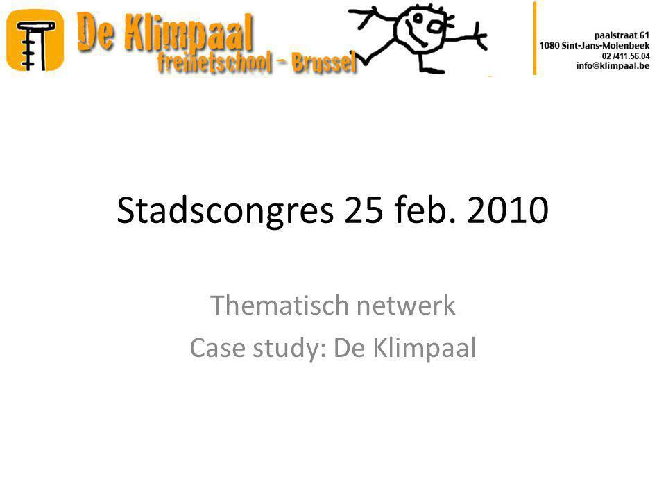 Agenda Ontstaan van het netwerk Business case en strategische nota Realisatie van het project Gewijzigde rol van het netwerk VZW Schouder