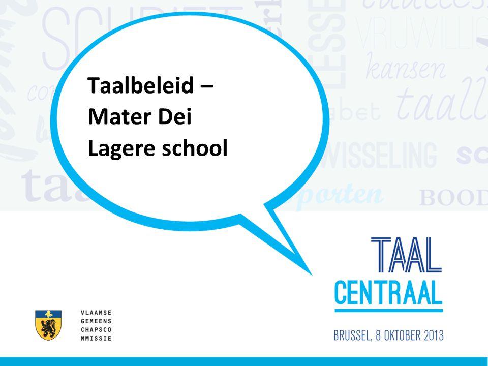 Taalbeleid – Mater Dei Lagere school