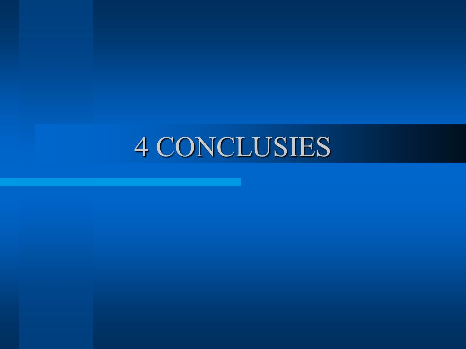 4 CONCLUSIES