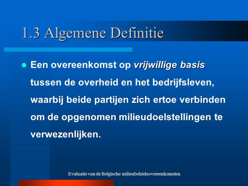 Evaluatie van de Belgische milieubeleidsovereenkomsten 3.4 Structuur van de sector Positieve relatie Geen 'slechte' MBO's met homogene sectoren Voordeel België –doelgroepenbeleid