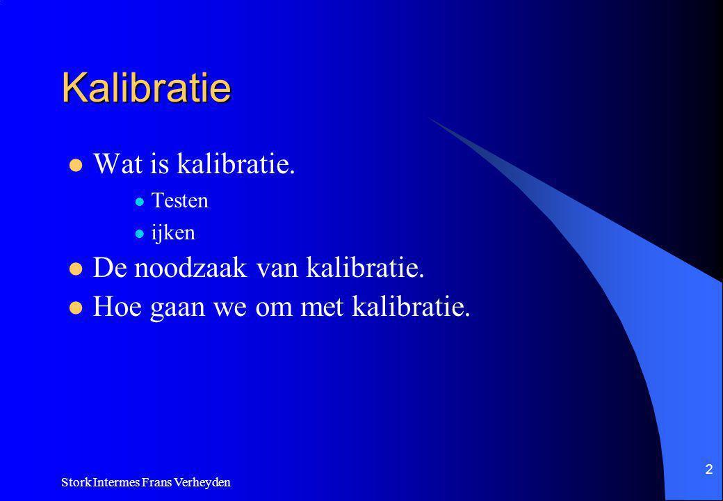 Stork Intermes Frans Verheyden 2 Kalibratie Wat is kalibratie.
