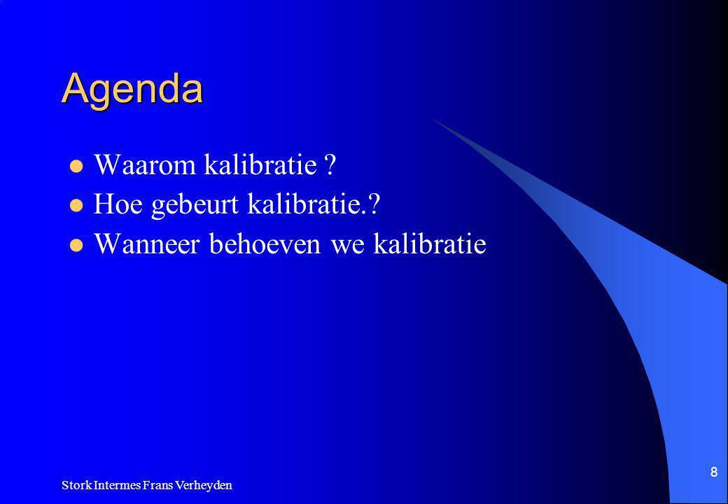 Stork Intermes Frans Verheyden 8 Agenda Waarom kalibratie .