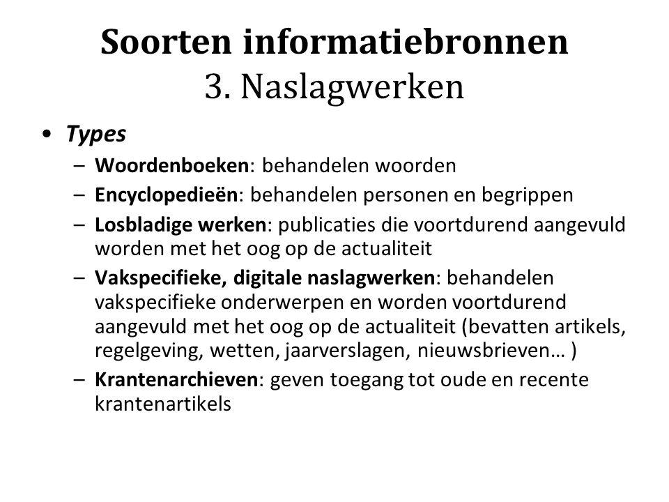Soorten informatiebronnen 3.