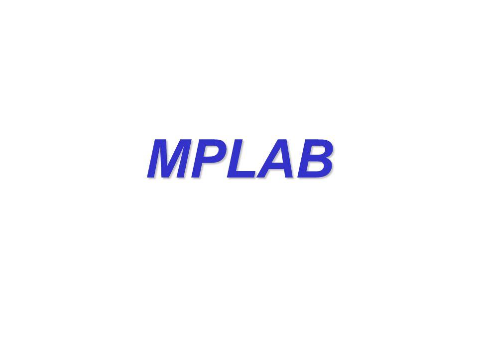 MPLAB MPLAB is een Integrated Development Environment (IDE) voor Microchip microcontrollers