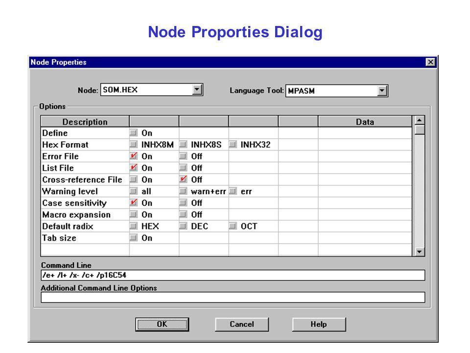 Node Proporties Dialog