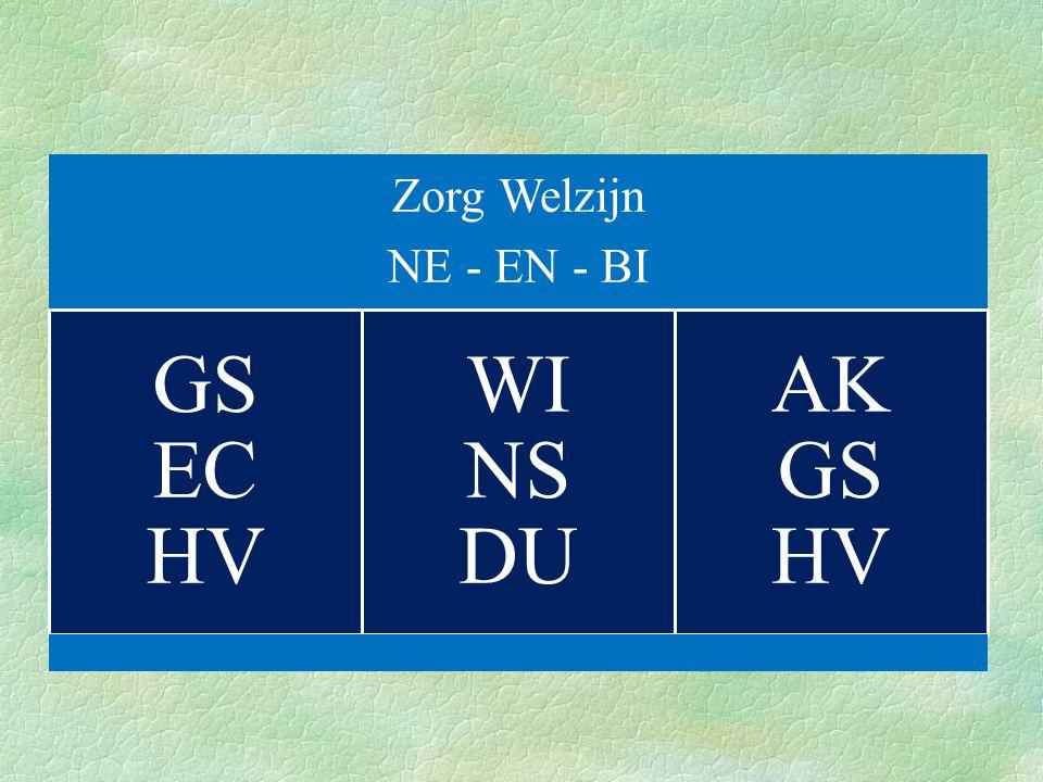 Zorg Welzijn NE - EN - BI GS EC HV WI NS DU AK GS HV