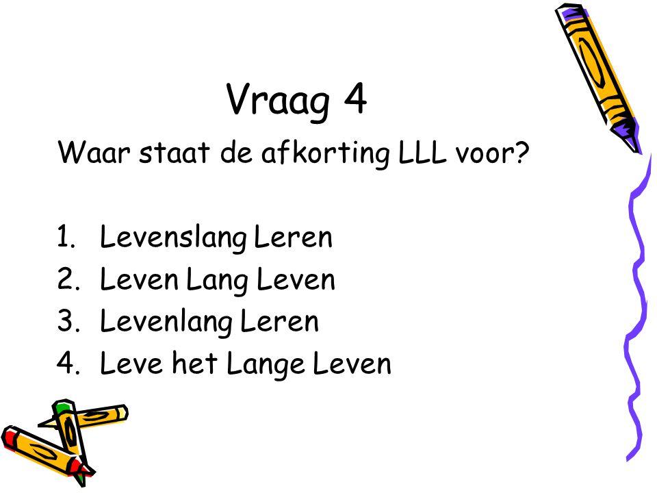 Vraag 2 Wat is de naam van het Rotterdamse Samenwerkingsverband voor de Ad.