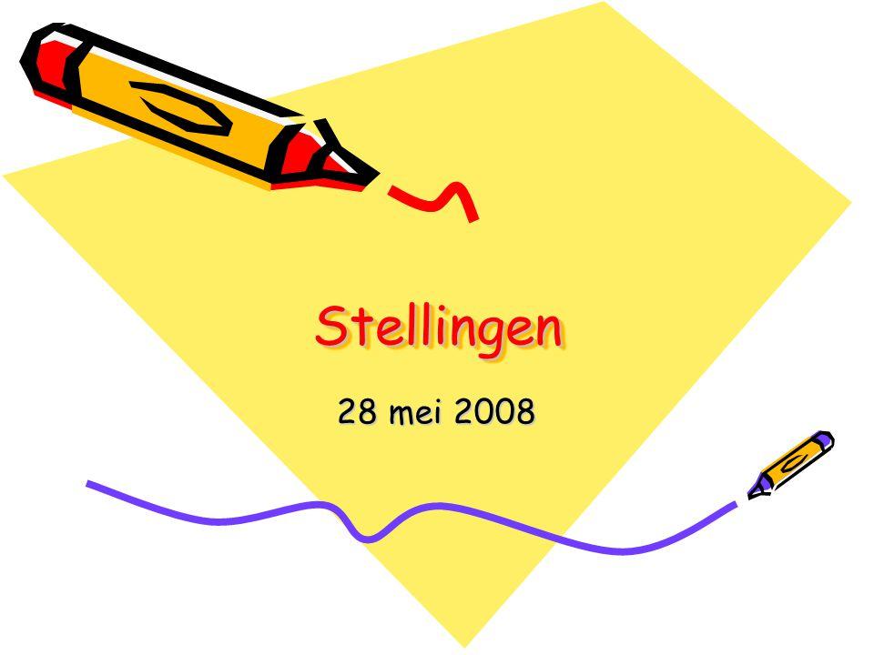 StellingenStellingen 28 mei 2008