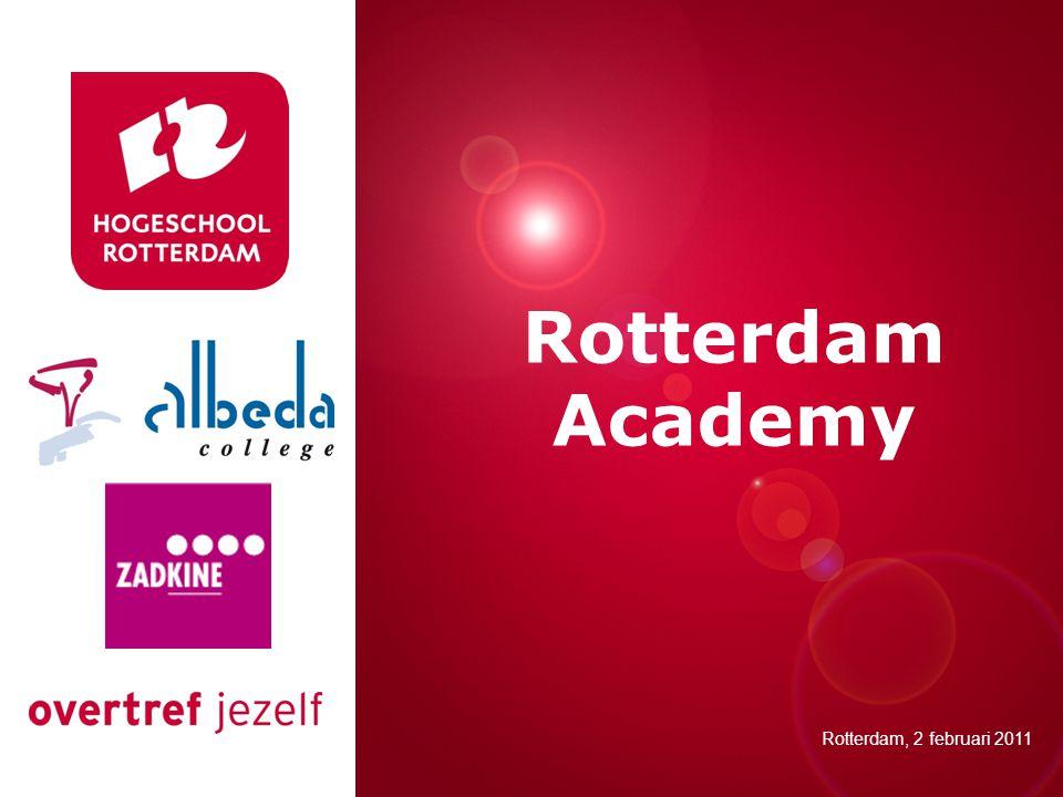Presentatie titel Rotterdam, 00 januari 2007 Rotterdam Academy Rotterdam, 2 februari 2011