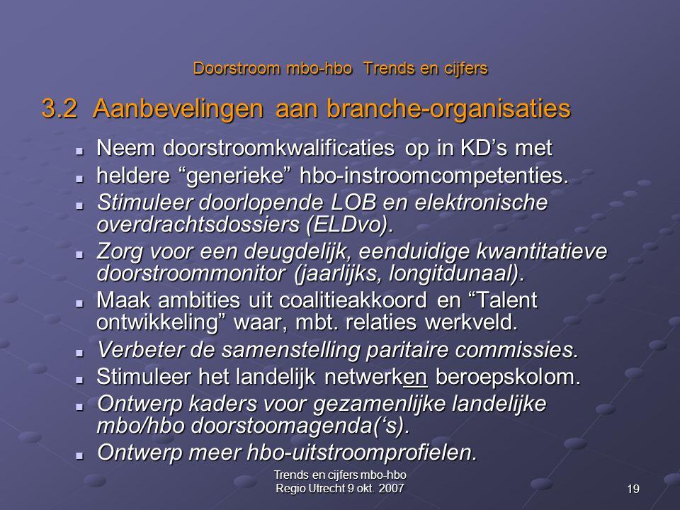 19 Trends en cijfers mbo-hbo Regio Utrecht 9 okt.