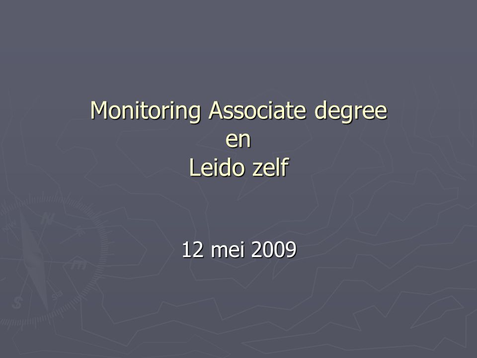 Monitoring Associate degree en Leido zelf 12 mei 2009