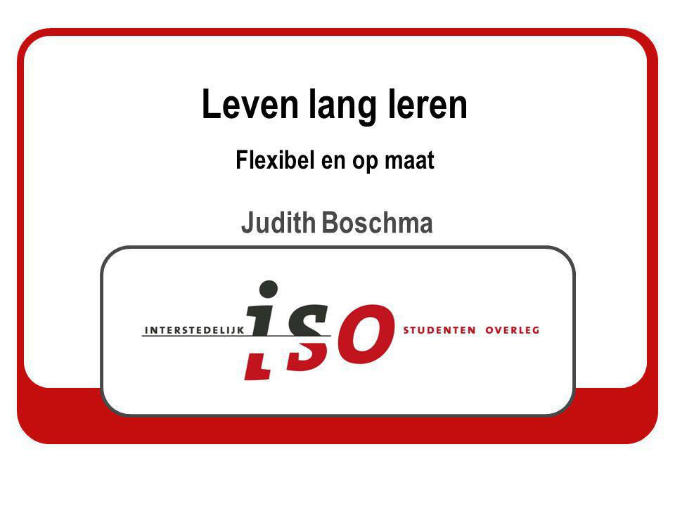 Judith Boschma Leven lang leren Flexibel en op maat